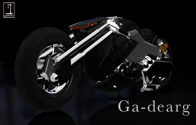 黒いバイク
