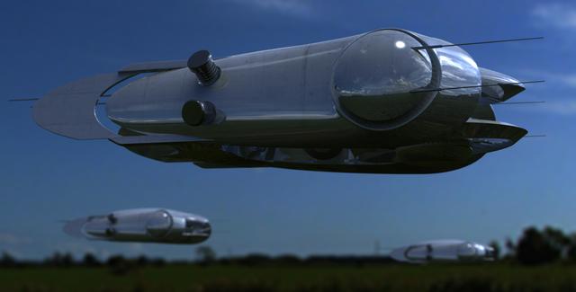 メタリック飛行機