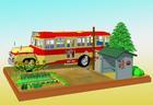 昭和30年代の情景−バス停