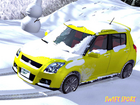 スイフトスポーツで雪見旅行〜♪