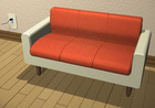 紅いソファー