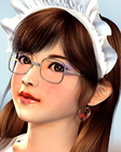 眼鏡メイドさん