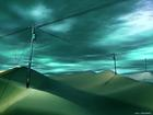 砂漠に電柱